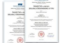 Kolejne certyfikaty środowiskowe EPD dla Aluprof SA
