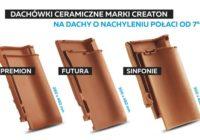 Dachówki ceramiczne marki CREATON na dachy o nachyleniu połaci od 7°